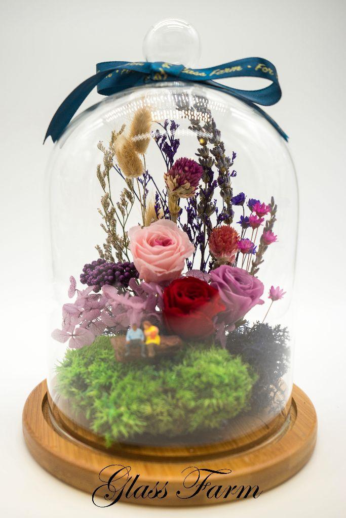 floral dream terrarium violet glass farm 100. Black Bedroom Furniture Sets. Home Design Ideas