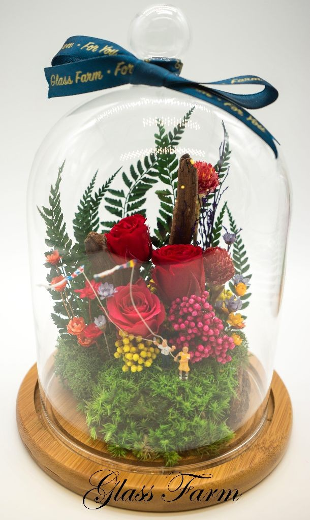 Floral Dream Terrarium - Red by Glass Farm HK
