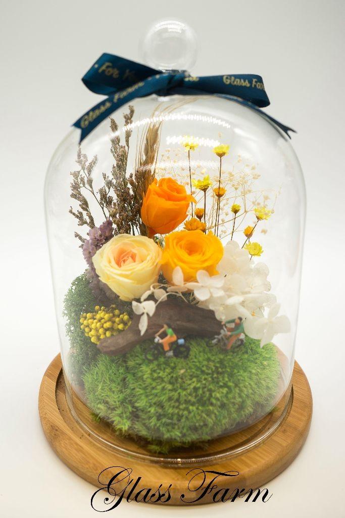 Floral Dream Terrarium - Yellow by Glass Farm HK